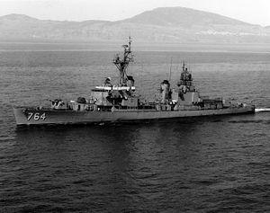 USS Lloyd Thomas (DD-764) - USS Lloyd Thomas (DD-764) at sea in the 1960s