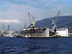 USS Los Alamos (AFDB-7) at Holy Loch in 1980s.jpg