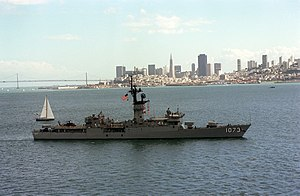 Knox-class frigate - Image: USS Robert E. Peary (FF 1073) San Francisco