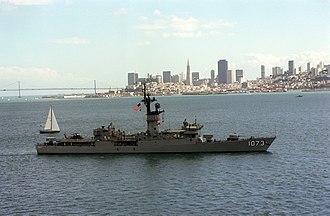 Knox-class frigate - Image: USS Robert E. Peary (FF 1073) San Francisco