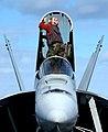 US Navy 031103-N-1573O-085 An F-A-18E Super Hornet receives a cleaning.jpg