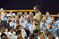 US Navy 051206-N-8157C-110 Chief of Naval Operations Adm. Mike Mullen addresses Sailors stationed on board Naval Station Pearl Harbor during an all-hands call.jpg