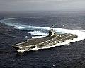 US Navy 060111-N-1229B-002 The Nimitz-class aircraft carrier USS Abraham Lincoln (CVN 72) makes a high speed turn during the ship handling drills.jpg