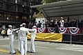 US Navy 070526-N-0606B-005 Members of the Training Support Center Great Lakes Drill Team perform in front of the reviewing stand for Chief of Naval Operations Adm. Mike Mullen during the Chicago Memorial Day Parade.jpg