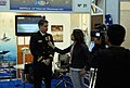 US Navy 081201-N-7676W-021 Lt. Taniel Anderson is interviewed for UCV Television.jpg