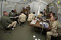 US Navy 090219-N-6477M-151 Sailors assigned to Fleet Combat Camera Group Pacific have their images critiqued in a tent at Marine Corps Base Camp Pendleton during Quick Shot 2009.jpg