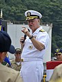 US Navy 090704-N-8273J-130 Chief of Naval Operations (CNO) Adm. Gary Roughead speaks with sailors during an all-hands call in Yokuska, Japan.jpg