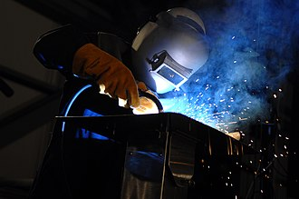 Keel - The initials of Susan Ford Bales being welded into the keel of the aircraft carrier USS ''Gerald R. Ford'' (CVN 78) during a keel laying and authentication ceremony at Northrop Grumman Shipbuilding in Newport News.
