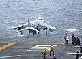 US Navy 091203-N-3165S-074 An AV-8B Harrier conducts its final take-off from USS Bataan (LHD 5).jpg