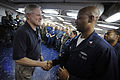 US Navy 100301-N-5549O-341 Secretary of the Navy (SECNAV) the Honorable Ray Mabus visits with Sailors and Marines aboard USS Bataan (LHD 5).jpg