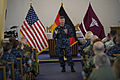 US Navy 100609-N-7526R-076 Master Chief Petty Officer of the Navy (MCPON) Rick West speaks to more than 200 Soldiers, Sailors, Airmen and Marines.jpg
