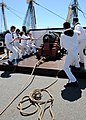 US Navy 100630-N-7642M-134 The USS Constitution master gun team of demonstrates the loading and firing of an1812-era cast iron long gun during Boston Navy Week.jpg