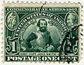 US stamp 1907 1c Jamestown Expo John Smith.jpg