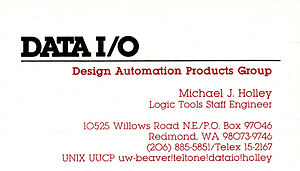 UUCP -  Business card with UUCP email address