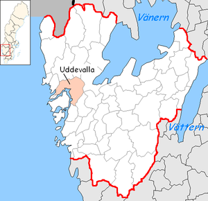 Uddevalla Municipality - Image: Uddevalla Municipality in Västra Götaland County