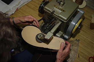 Ugg boots - Stitching the innersole of an Australian ugg boot