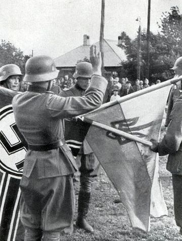Ukrainian Liberation Army oath to Adolf Hitler Ukrainian Liberation Army (UVV).jpg
