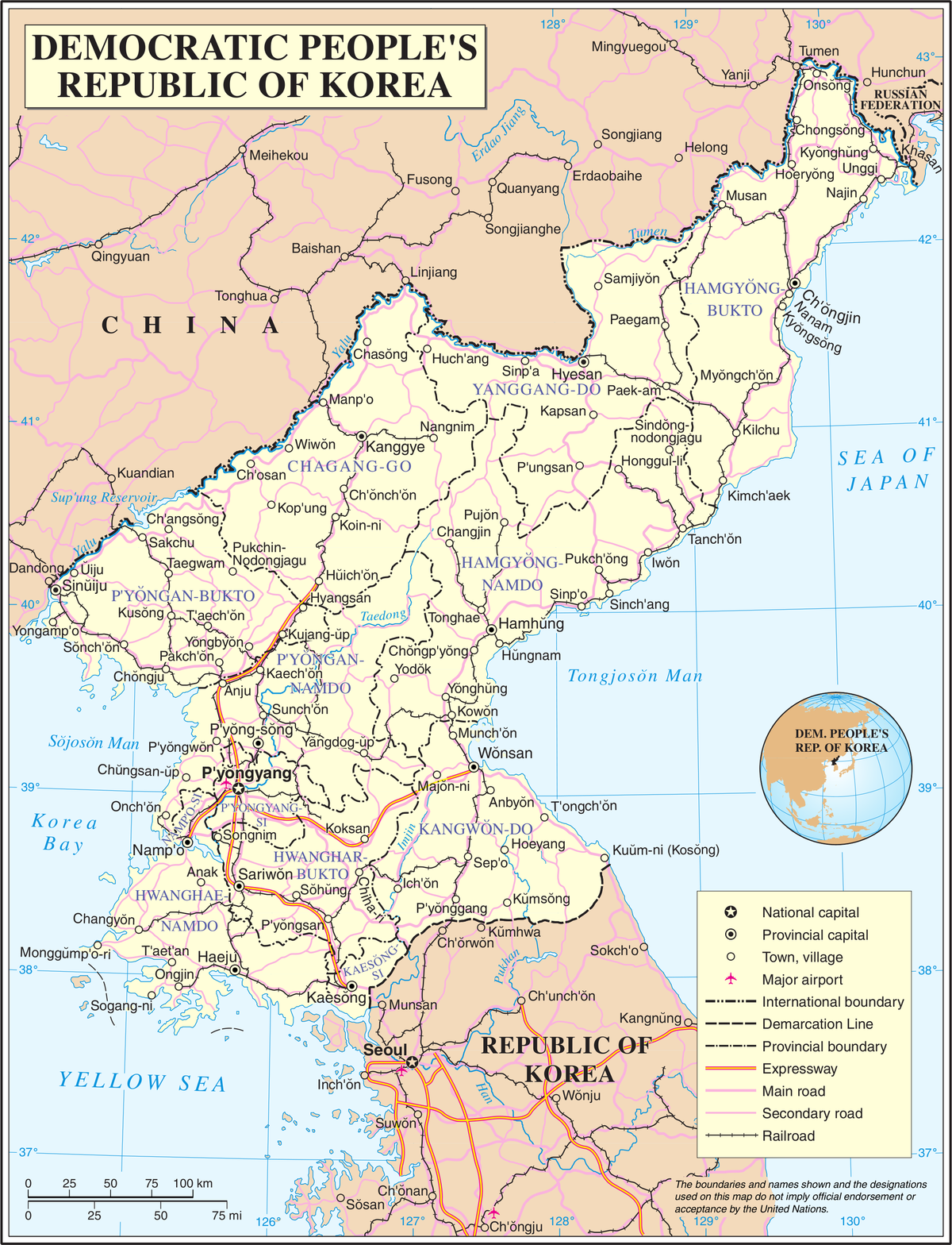 Geography Of North Korea Wikipedia - Us map with north south east west