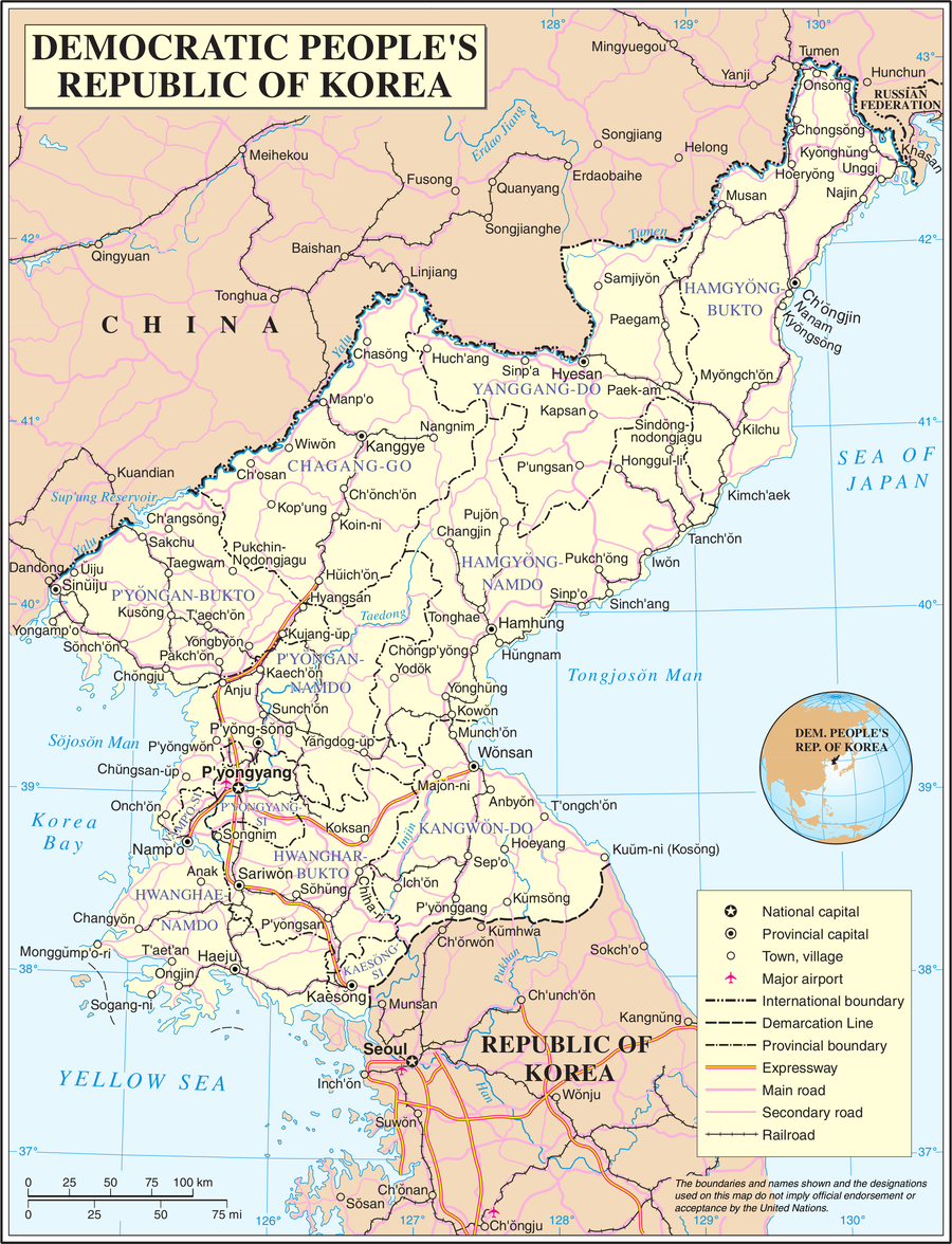 Geography of North Korea - The Reader Wiki, Reader View of ... on capital of korea, n. korea, map from florida to korea, area of russia near korea, pyongyang korea, world map korea,