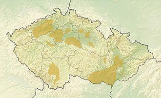 Unetice culture - Map showing location of the Únětice culture in Czech Republic