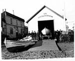 United States Life Saving Station, showing boats and large reel of rope, Nome, October 5, 1908 (NOWELL 217).jpeg