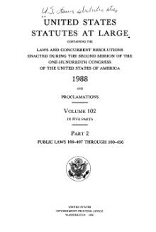 United States Statutes at Large Volume 102 Part 2.djvu
