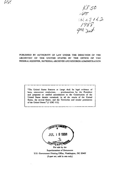 File:United States Statutes at Large Volume 102 Part 2.djvu