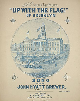 "City of Greater New York - ""Up With the Flag! (of Brooklyn)"", an 1895 anti-consolidation song."