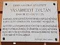 Vásárhelyi Zoltán (1900-1977) emléktábla, Széchenyiváros, 2016 Hungary.jpg