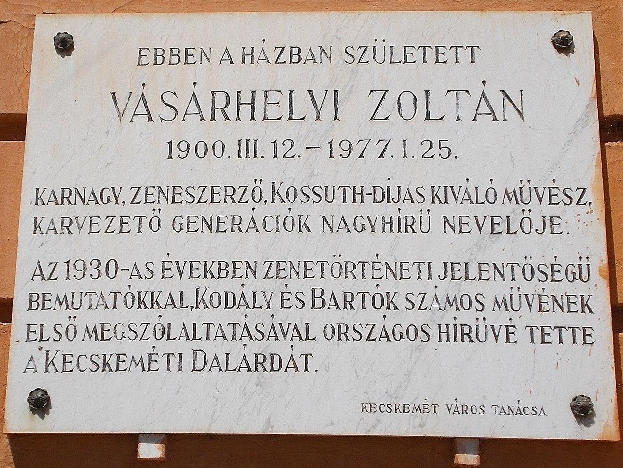 Filevsrhelyi Zoltn 1900 1977 Emlktbla Szchenyivros 2016