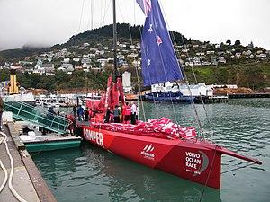 2011–12 Volvo Ocean Race - Image: VO70 Camper Lyttelton