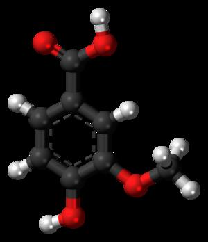 Vanillic acid - Image: Vanillic acid 3D ball