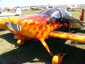 Van's Aircraft RV-6 - An RV-6 with an elaborate paint scheme at Sun 'n Fun 2006.