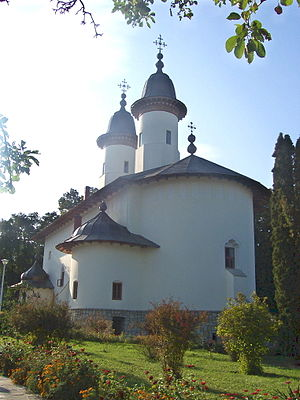Neamț County - The church of Văratec Monastery