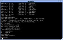 Version 7 Unix: contents of an /etc/rc Bourne shell script