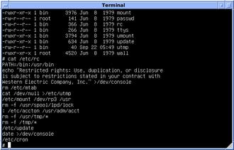 Init - Image: Version 7 UNIX SIMH PDP11 Etc Rc