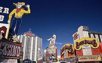 Downtown Las Vegas - Downtown Las Vegas casinos on Fremont Street (1973)