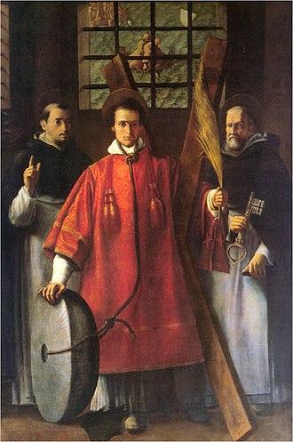 Vincent of Saragossa - San Vicente Mártir arrojado al muladar. Escultura en alabastro. Documentado 1533 - Diego de Tredia - Museo de Bellas Artes de Valencia.