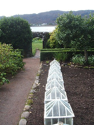 Cloche (agriculture) - Cloches in a walled garden.