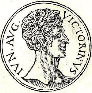 """Victorinus Junior - Victorinus Junior from """"Promptuarii Iconum Insigniorum """""""