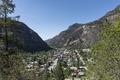 View from high above Ouray, Colorado, an old mining community high in the San Juan Mountains of southwestern Colorado LCCN2015632309.tif