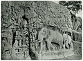 View of Arjuna's penance bas relief sculpture near Mahabalipuram - 1928.JPG