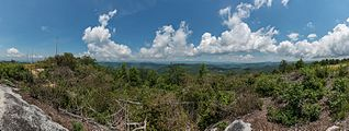 View of Blue Ridge Mountains from Sassafras Mountain 20160701 1.jpg