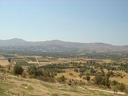 View of Messara fron Festos.JPG