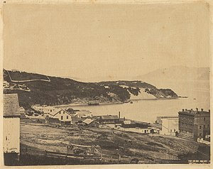 North Beach, San Francisco - View of North Beach from Telegraph Hill, 1856