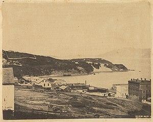 North Beach, San Francisco - View of North Beach from Telegraph Hill, 1856