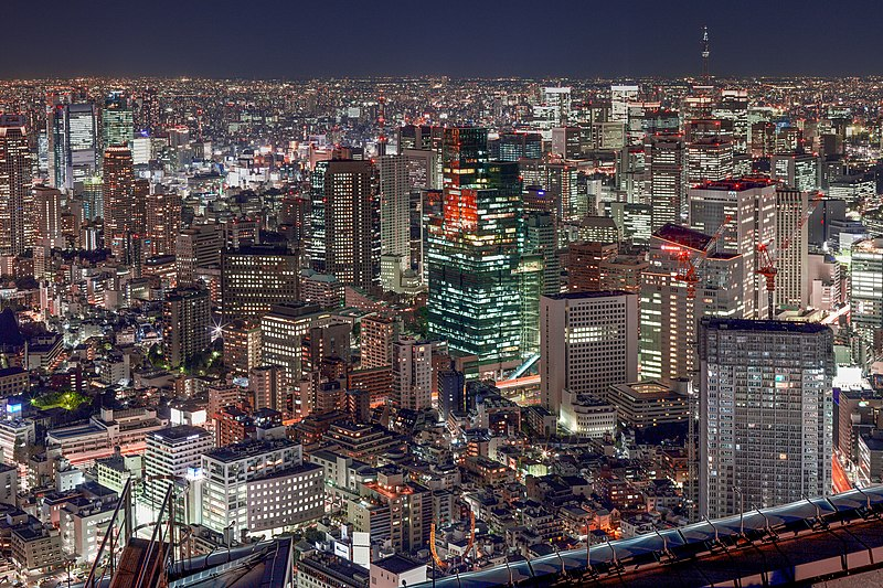 File:View of Tokyo Roppongi Hills downtown from Mori Tower.jpg