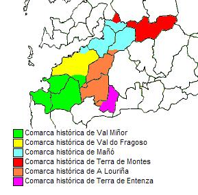 Vigo comarcas históricas