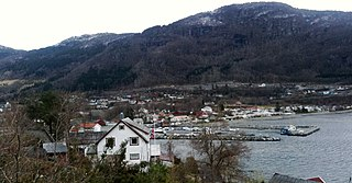 Vikedal Village in Western Norway, Norway