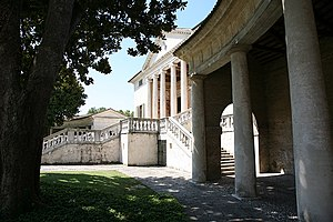 Villa Badoer - The main block from the curved colonnade
